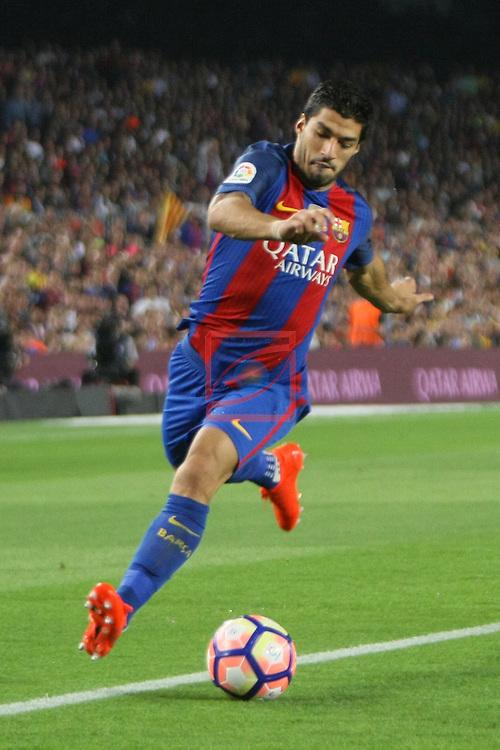League Santander 2016/2017. Game: 5.<br /> FC Barcelona vs Atletico de Madrid: 1-1.<br /> Luis Suarez.