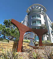 Mission Hospital Medical Center With The Spirit Sculpture In Front of The Building