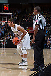 Mitchell Wilbekin (10) of the Wake Forest Demon Deacons during first half action against the North Carolina Tar Heels at the LJVM Coliseum on January 21, 2015 in Winston-Salem, North Carolina.  The Tar Heels defeated the Demon Deacons 87-71.  (Brian Westerholt/Sports On Film)