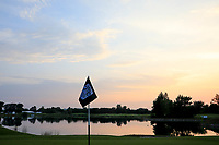 Sunset over the 10th green during previews for the Shot Clock Masters, Diamond Country Club, Atzenbrugg, Vienna, Austria. 05/06/2018<br /> Picture: Golffile | Phil Inglis<br /> <br /> All photo usage must carry mandatory copyright credit (&copy; Golffile | Phil Inglis)