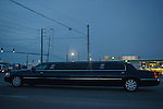 A limousine is seen in Carmel, Indiana on January 2, 2013.