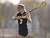 Madison Conway #3 of Wantagh makes a pass during a Nassau County varsity girls lacrosse game against host Cold Spring Harbor High School on Thursday, Apr. 21, 2016. Wantagh won by a score of 11-10.