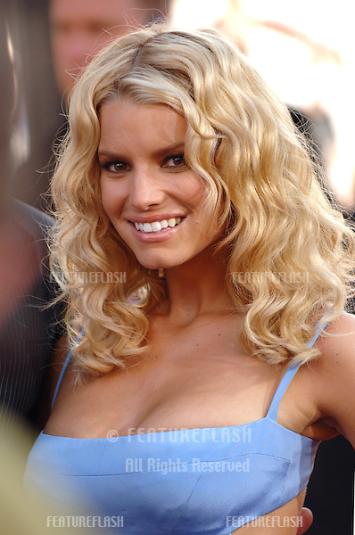 Actress/pop star JESSICA SIMPSON at the Los Angeles premiere of her new movie The Dukes of Hazzard..July 28, 2005 Los Angeles, CA.© 2005 Paul Smith / Featureflash