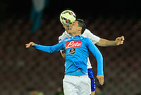 Jose Callejon  during the Italian Serie A soccer match between   SSC Napoli and UC Sampdoria at San Paolo  Stadium in Naples ,April 26 , 2015