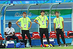 (L to R) <br /> Ado Onaiwu, <br /> Daichi Sugimoto, <br /> Shinnosuke Nakatani, <br /> Gakuto Notsuda, <br /> AUGUST 4, 2016 - Football / Soccer : <br /> Men's First Round Group B <br /> between Nigeria 5-4 Japan <br /> at Amazonia Arena <br /> during the Rio 2016 Olympic Games in Manaus, Brazil. <br /> (Photo by YUTAKA/AFLO SPORT)