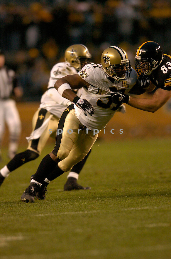 WILL SMITH, of the New Orleans Saints, in action against the Pittsburgh Steeler on November 12, 2006, in Pittsburgh, PA. ..Steelers win 38-31..Chris Bernacchi / SportPics