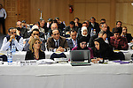 "DJERBA - TUNISIA - 13 March 2012 -- European Training Foundation (ETF) / Tunisian Ministry of Vocational Training and Employment (MFPE) Project Launch -  ""Human Capital for Regional Socio-Economic Development (Medenine, Tunisia)"". --  Front row: (L) Eva JIMENO, ETF -- PHOTO: Lindsay MACKENZIE / EUP-IMAGES."