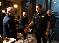 Jaguares coach Gonzalo Quesada speaks to media during a press conference at the Crowne Plaza Hotel in Christchurch on Thursday evening. Photo: Martin Hunter / lintottphoto.co.nz