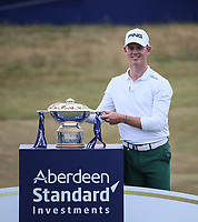 Brandon Stone (RSA) wins the Final Round of the ASI Scottish Open 2018, at Gullane, East Lothian, Scotland.  15/07/2018. Picture: David Lloyd | Golffile.<br /> <br /> Images must display mandatory copyright credit - (Copyright: David Lloyd | Golffile).