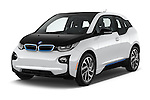 2017 BMW i3 Range-Extender 5 Door Hatchback Angular Front stock photos of front three quarter view