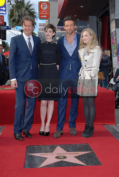 Tom Hooper, Anne Hathaway, Hugh Jackman, Amanda Seyfried<br />