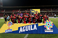 CÚCUTA-COLOMBIA, 14-11-2019: Jugadores de Cúcuta Deportivo posan para una foto antes de partido de la fecha 2 de los cuadrangulares semifinales entre Cúcuta Deportivo y Atlético Junior, por la Liga Águila II 2019, jugado en el estadio General Santander de la ciudad de Cúcuta. / Players of Cucuta Deportivo pose for a photo prior a match of the 2 date of the semifinals quarter finals between Cucuta Deportivo and Atletico Junior, for the Aguila Leguaje II 2019 at the General Santander Stadium in Cucuta city. / Photo: VizzorImage / Manuel Hernández / Cont.
