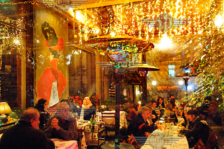 A fashionable restaurant in the Beyoglu District. The whole area, once decayed and is now full of thriving new restaurants cafes and bars.