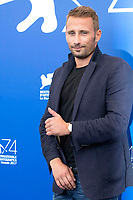 Matthias Schoenaerts during the 'Le Fidèle' photocall at the 74th Venice International Film Festival at the Palazzo del Casino on September 08, 2017 in Venice, Italy