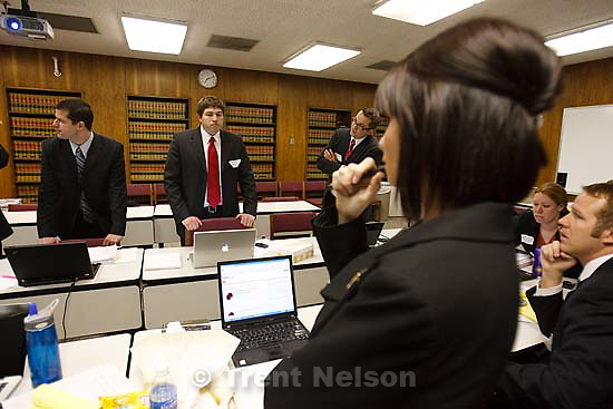 Spanish Fork - during a counterterrorism simulation conducted by Amos Guiora and his Counterterrorism class at the University of Utah S.J. Quinney College of Law Friday March 27, 2009..
