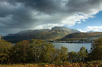 Ben Nevis, Fort William and Loch Linnhe from the Crofter's Woods, Camusnagaul, Ardgour, Lochaber