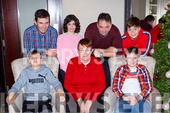 Kathleen Murray Millstreet celebrated her birthdya with her family in Lord Kenmares restaurant Killarney on Saturday night front row l-r: Bryan, Kathleen and Darragh Murray. Back row: Tadhg, Louise, Sean and Cian Murray