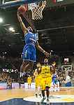 10.02.2018, EWE Arena, Oldenburg, GER, BBL, EWE Baskets Oldenburg vs Rockets Erfurt, im Bild<br /> <br /> Frantz MASSENNAT (EWE Baskets Oldenburg #10)<br /> Retin OBASOHAN (Rockets Erfurt #0 )<br /> Foto &copy; nordphoto / Rojahn