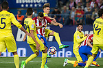 Koke Resurrecccion of Atletico de Madrid competes for the ball with Samu Castillejo of Villarreal during the match of La Liga between Atletico de Madrid and Villarreal at Vicente Calderon  Stadium  in Madrid, Spain. April 25, 2017. (ALTERPHOTOS/Rodrigo Jimenez)