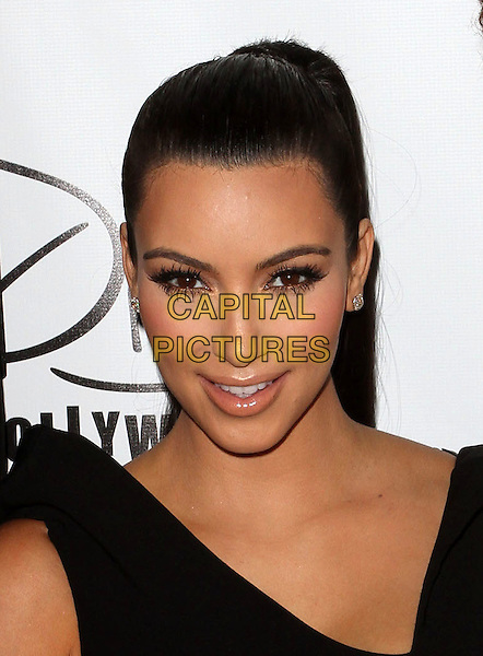Kim Kardashian.The World's Most Beautiful Magazine Launch Event held at Drai's in Hollywood, California, USA..August 10th, 2011.headshot portrait eyelashes black sleeveless make-up beauty .CAP/ADM/KB.©Kevan Brooks/AdMedia/Capital Pictures.