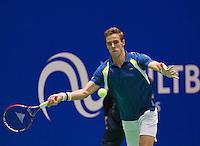 December 189 2014, Rotterdam, Topsport Centrum, Lotto NK Tennis, Men's quarterfinal,   Scott Griekspoor (NED)<br /> Photo: Tennisimages/Henk Koster