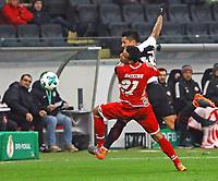 Karim Onisiwo (1. FSV Mainz 05) gegen Carlos Salcedo (Eintracht Frankfurt) - 07.02.2018: Eintracht Frankfurt vs. 1. FSV Mainz 05, DFB-Pokal Viertelfinale, Commerzbank Arena