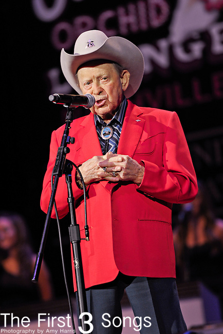 LITTLE JIMMY DICKENS performs at the Ryman Auditorium for Tootsie's Orchid Lounge 50th Anniversary Celebration in Nashville, Tennessee on November 8, 2010.