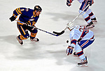 9 December 2006: Buffalo Sabres center Derek Roy (9) leads a rush up ice against the Montreal Canadiens at the Bell Centre in Montreal, Canada. The Sabres defeated the Canadiens 3-2 in a shootout, taking their third contest in the month of December. Mandatory Photo credit: Ed Wolfstein Photo<br />  *** Editorial Sales through Icon Sports Media *** www.iconsportsmedia.com