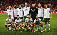 The Republic of Ireland team during the FIFA World Cup Qualifier Group D match between Wales and Republic of Ireland at The Cardiff City Stadium, Wales, UK. Monday 09 October 2017