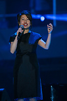 Kim Thuy performs at the St-Jean show on the Plains of Abraham in Quebec City during the Fête nationale du Quebec, Thursday June 23, 2016. St-Jean Baptist is Quebec National day and is traditionally celebrated on the Plains of Abraham with a concert and a huge fire.