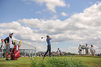 Brendan Steele (USA) watches his tee shot on 7 during Sunday's round 4 of the 117th U.S. Open, at Erin Hills, Erin, Wisconsin. 6/18/2017.<br /> Picture: Golffile | Ken Murray<br /> <br /> <br /> All photo usage must carry mandatory copyright credit (&copy; Golffile | Ken Murray)