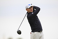Jack Madden (Royal Portrush) on the 2nd tee during Round 1 of The East of Ireland Amateur Open Championship in Co. Louth Golf Club, Baltray on Saturday 1st June 2019.<br /> <br /> Picture:  Thos Caffrey / www.golffile.ie<br /> <br /> All photos usage must carry mandatory copyright credit (© Golffile | Thos Caffrey)