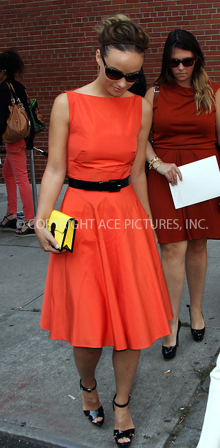 WWW.ACEPIXS.COM....September 13 2012, New York City....Actress Olivia Wilde attends a fashion show at Mercedes Benz Fashion Week on September 13 2012 in New York City......By Line: Zelig Shaul/ACE Pictures......ACE Pictures, Inc...tel: 646 769 0430..Email: info@acepixs.com..www.acepixs.com