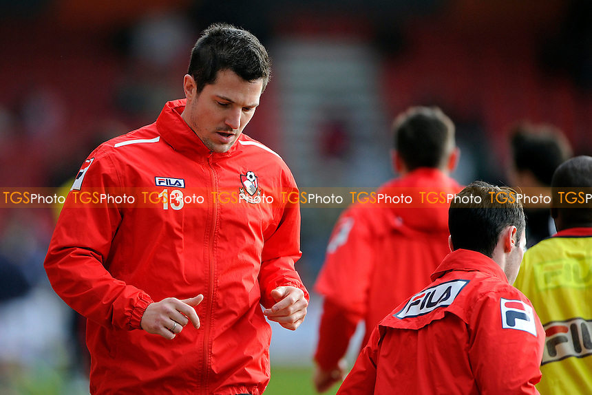 Yann Kermorgant of AFC Bournemouth warms up before making his debut - AFC Bournemouth vs Leicester City - Sky Bet Championship Football at the Goldsands Stadium, Bournemouth, Dorset - 01/02/14 - MANDATORY CREDIT: Denis Murphy/TGSPHOTO - Self billing applies where appropriate - 0845 094 6026 - contact@tgsphoto.co.uk - NO UNPAID USE