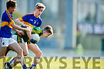 Barry Keane Kerry  in action against Mark Stokes Tipperary in the Munster U17 Football Championship at Austin Stack Park Tralee on Tuesday evening.