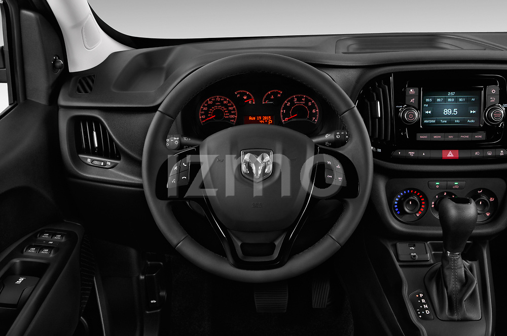 Car pictures of steering wheel view of a 2018 Ram Promaster-City SLT-Wagon 5 Door Mini MPV Steering Wheel