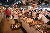 BRAZIL, Manaus, Amazon River fish being sold at the Manaus fish market