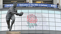 General view of a statue on top of the West Gate during the RBS 6 Nations match between England and France at Twickenham on Saturday 23rd February 2013 (Photo by Rob Munro)