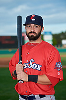 Pawtucket Red Sox shortstop Mike Miller (10) poses for a photo before a game against the Rochester Red Wings on May 19, 2018 at Frontier Field in Rochester, New York.  Rochester defeated Pawtucket 2-1.  (Mike Janes/Four Seam Images)