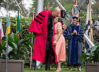 Brenda Macías & Angelina Macias and Mario Macias, Sr. <br /> Families, friends, faculty, staff and distinguished guests celebrate the class of 2019 during Occidental College's 137th Commencement ceremony on Sunday, May 19, 2019 in the Remsen Bird Hillside Theater.<br /> (Photo by Marc Campos, Occidental College Photographer)