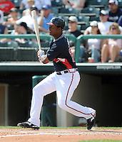 15 March 2009: Outfielder Brandon Jones in a game between the Atlanta Braves and Houston Astros at the Braves' Spring Training camp at Disney's Wide World of Sports in Lake Buena Vista, Fla. Photo by:  Tom Priddy/Four Seam Images