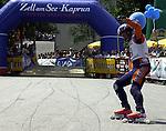 1. Inline Downhill Weltmeisterschaft, Zell am See (Austria) Sieger im Ziel: Oskar Galliazzo (Italy)
