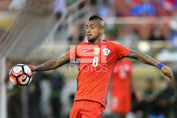 Santa Clara, CA - Saturday June 18, 2016: Arturo Vidal during a Copa America Centenario quarterfinal match between Mexico (MEX) and Chile (CHI) at Levi's Stadium.