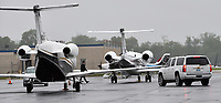 Private jets fly in for the Kentucky Derby. Planes sit on the tarmac at Standiford Field Airport and Bowman Field during Derby time thanks to the Louisville Regional Airport Authority.