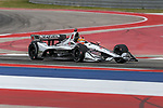 Dale Coyne Racing driver Santino Ferrucci (19) of United States in action during the practice round at the Circuit of the Americas racetrack in Austin,Texas.