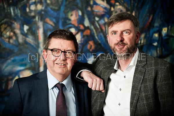 Ivo De Meersman, General Manager Payments & Cards Belgium at KBC Bank & Verzekering with Joeri Lieten, CEO at Payconiq Belgium (Brussels, 20/02/2017)