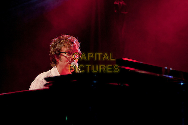 Ben Folds.Recently reunited American piano rock band Ben Folds Five play their first UK concert since 1999 as part of their World Tour at the O2 Bristol Academy, Bristol, UK, 23rd November 2012..music concert gig live on stage portrait headshot  piano playing glasses microphone singing .CAP/PP/MM.©Mike Mustard/PP/Capital Pictures