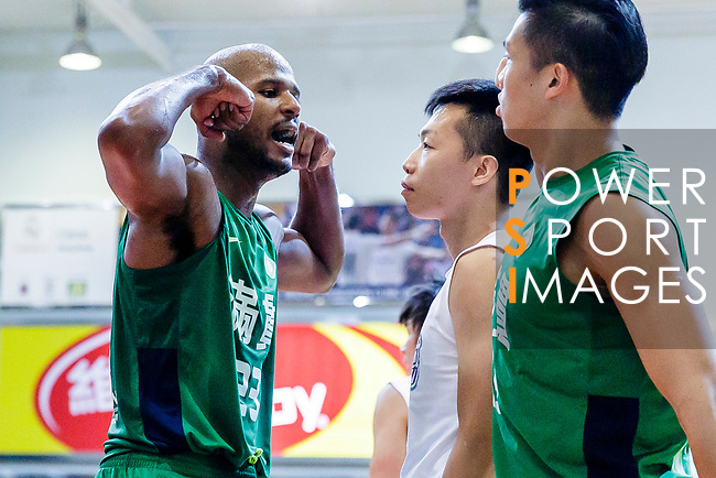 Austin Bryant M #23 of Tycoon Basketball Team gestures during the Hong Kong Basketball League game between HKPA and Tycoon at Southorn Stadium on June 22, 2018 in Hong Kong. Photo by Yu Chun Christopher Wong / Power Sport Images