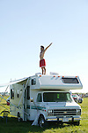 Stretching on Top of RV