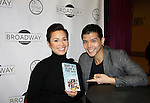 """As The World Turns Lea Salonga apnd Telly Leung (Glee) and both are starring in the play """"Allegiance"""" attend the first ever 3-day Broadway Con and show off Jane Elissa book on January 22 - 24, 2016 at the Hilton Hotel, New York City, New York. (Photo by Sue Coflin/Max Photos)"""